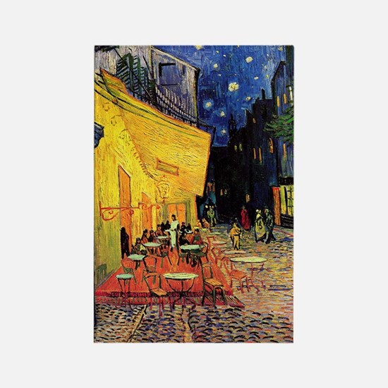 Van Gogh, Cafe Terrace at Night Rectangle Magnet