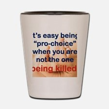 ITS EASY BEING PRO CHOICE Shot Glass