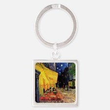 Van Gogh, Cafe Terrace at Night Square Keychain