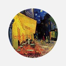 """Van Gogh, Cafe Terrace at Night 3.5"""" Button"""