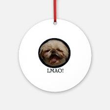 LMAO Round Ornament