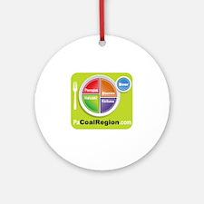 Coal Region Food Groups Round Ornament