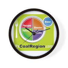 Coal Region Food Groups Wall Clock