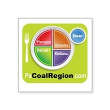 "Coal Region Food Groups Square Sticker 3"" x 3"""