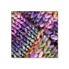 "Entrelac Knit  multi-colore Square Sticker 3"" x 3"""