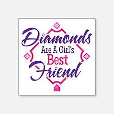"Diamonds Square Sticker 3"" x 3"""