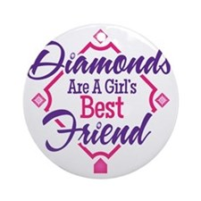 Diamonds Round Ornament