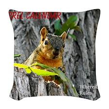 Where cuteness Rules Woven Throw Pillow