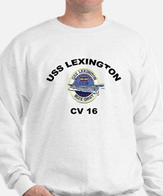 USS Lexington CV 16 Sweatshirt