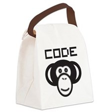Code Monkey Canvas Lunch Bag