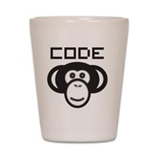 Code Monkey Shot Glass