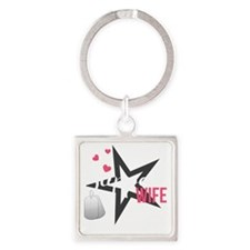 Sappers Wife Square Keychain