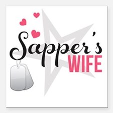 "Sappers Wife Square Car Magnet 3"" x 3"""
