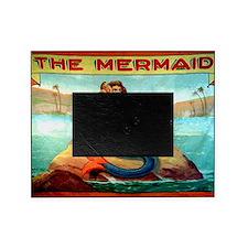 Vintage Mermaid Carnival Poster Picture Frame