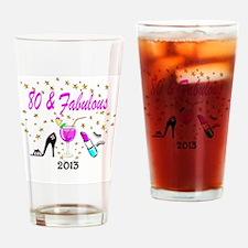 CELEBRATE 80 Drinking Glass