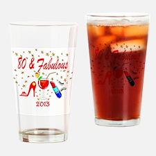 80TH MARTINI Drinking Glass