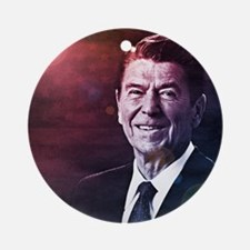 President Ronald Reagan Round Ornament
