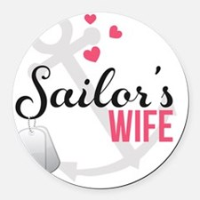 Sailors Wife Round Car Magnet