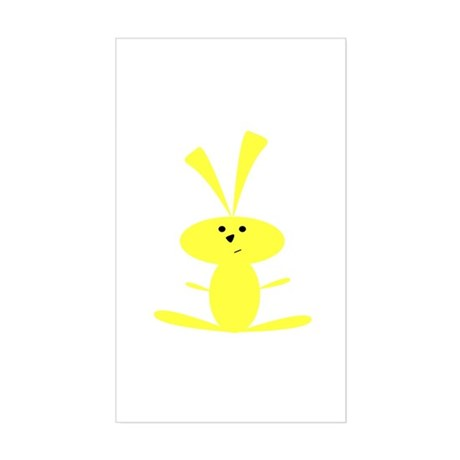YELLOW BUNNY Rectangle Sticker