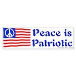 Peace is Patriotic Flag Bumper Sticker