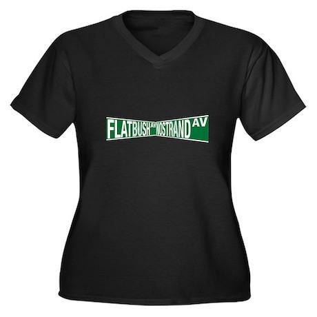 The Junction Women's Plus Size V-Neck Dark T-Shirt