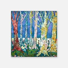 "Tree Tapestry 2 Square Sticker 3"" x 3"""