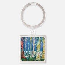 Tree Tapestry 2 Square Keychain