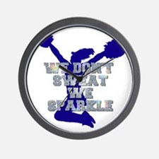 Cheerleader we sparkle Wall Clock