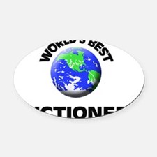 World's Best Auctioneer Oval Car Magnet