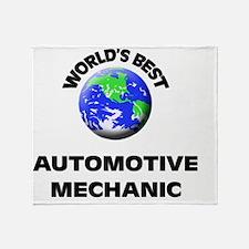 World's Best Automotive Mechanic Throw Blanket