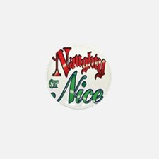 Christmas Naughty or Nice Cartoon Lett Mini Button