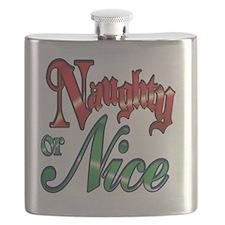 Christmas Naughty or Nice Cartoon Letters Wo Flask