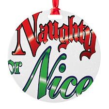 Christmas Naughty or Nice Cartoon L Ornament