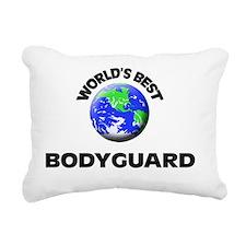World's Best Bodyguard Rectangular Canvas Pillow