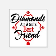 """Diamonds BR Square Sticker 3"""" x 3"""""""