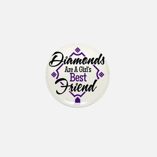 Diamonds P B Mini Button