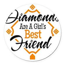 Diamonds BG Round Car Magnet