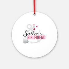 Sailors Girlfriend Round Ornament