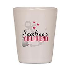 Seabees Girlfriend Shot Glass
