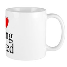 """I Love (Heart) Being Naked"" Small Mug"