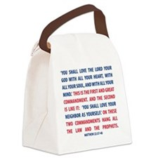 The Greatest Commandment Canvas Lunch Bag