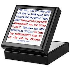 The Greatest Commandment Keepsake Box