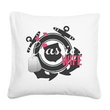 Coasties Wife Square Canvas Pillow