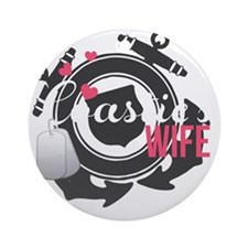 Coasties Wife Round Ornament