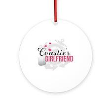 Coasties Girlfriend Round Ornament