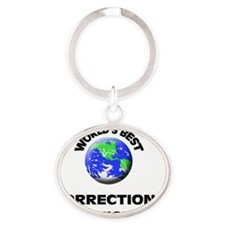 World's Best Corrections Officer Oval Keychain