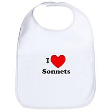 I Love Sonnets Bib