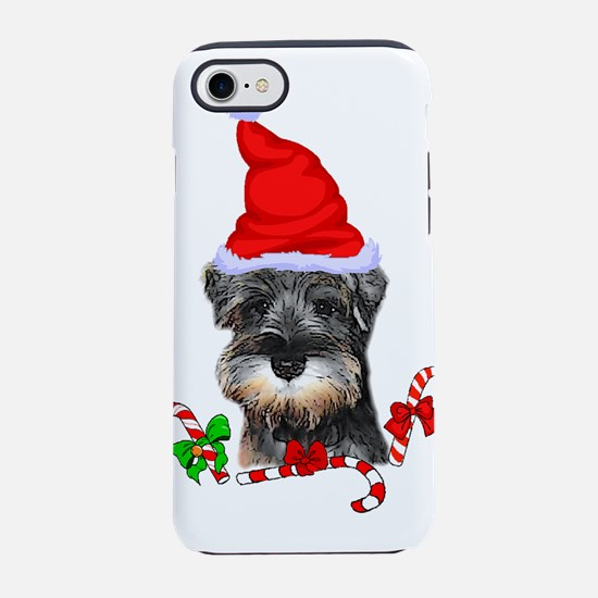 Miniature Schnauzer Christmas iPhone 7 Tough Case