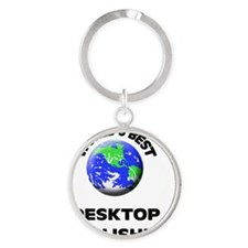 World's Best Desktop Publisher Round Keychain