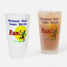 Release Your Inner Child...Run! Drinking Glass